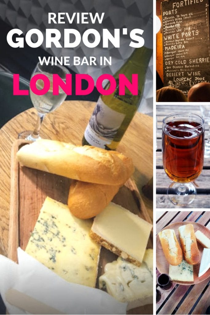 review gordons wine bar in london
