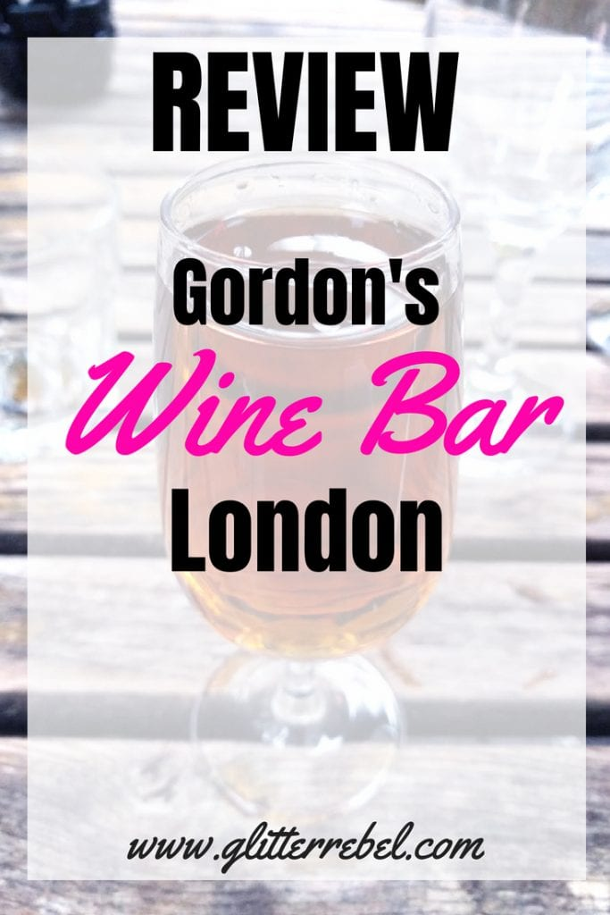 review gordons wine bar london