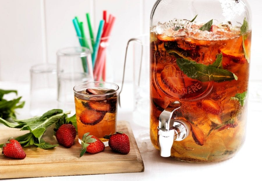 strawberry-pimms