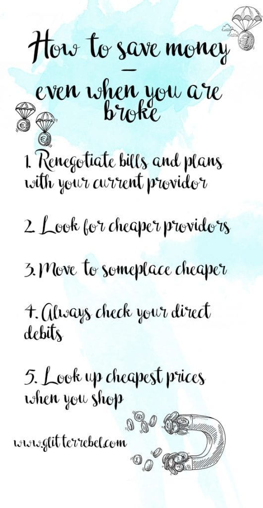 how to save money even when you are broke
