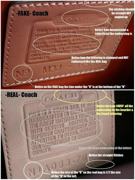 coach tag comparisson