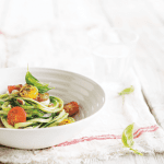 courgetti spaghetti with pesto