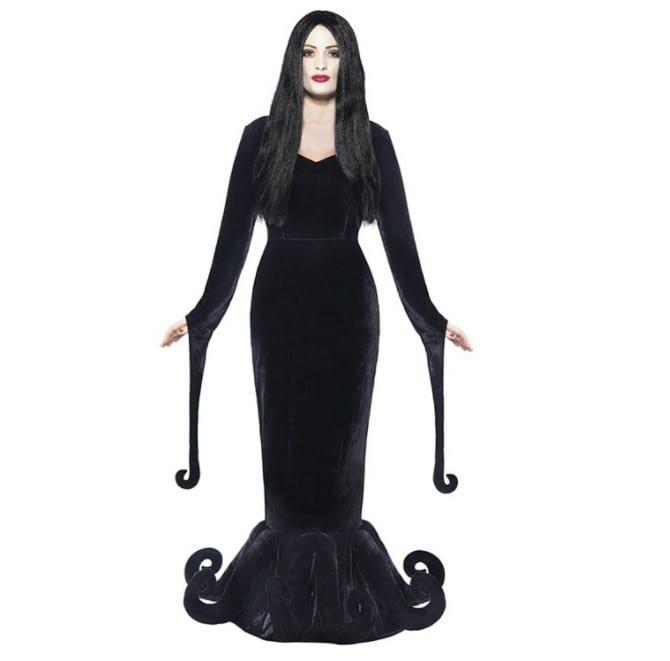 morticia adams family halloween costume 2017