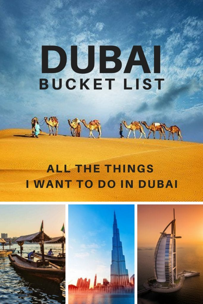 ultimate dubai bucket list