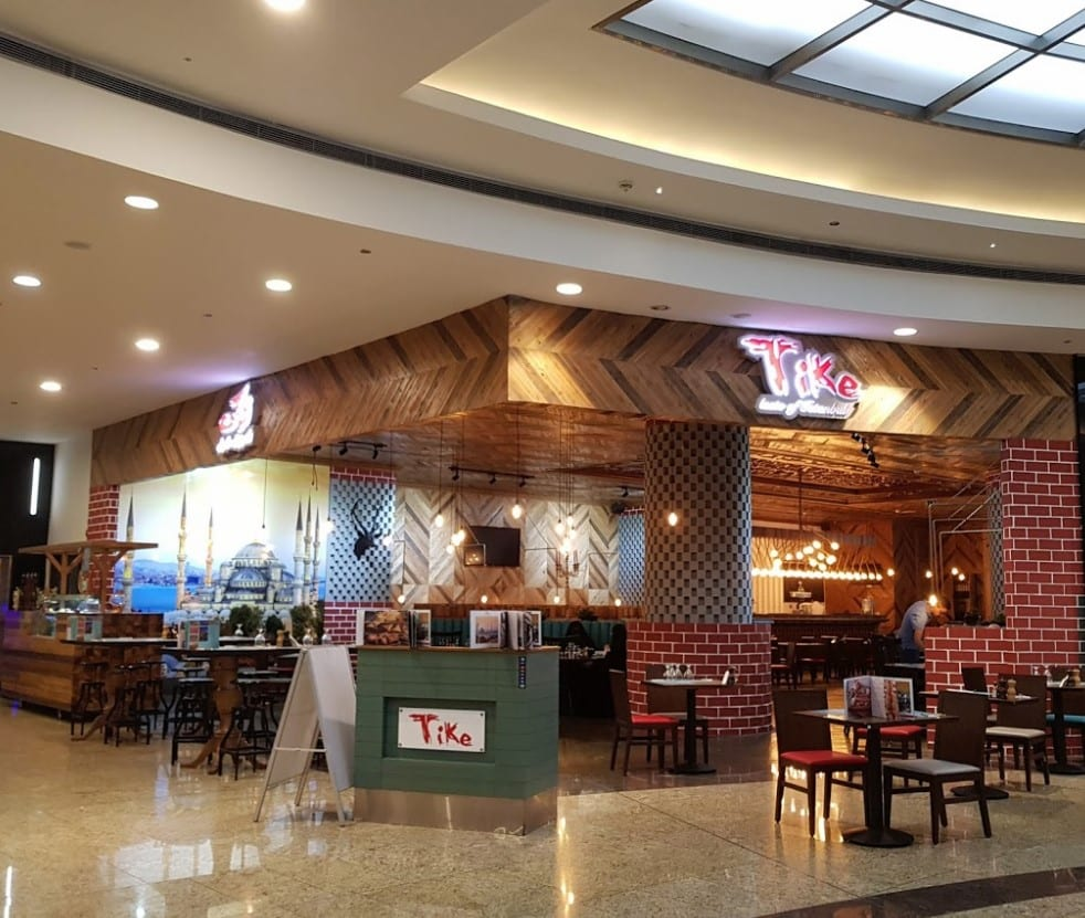tike taste of istanbul sharjah sahara centre front of restaurant