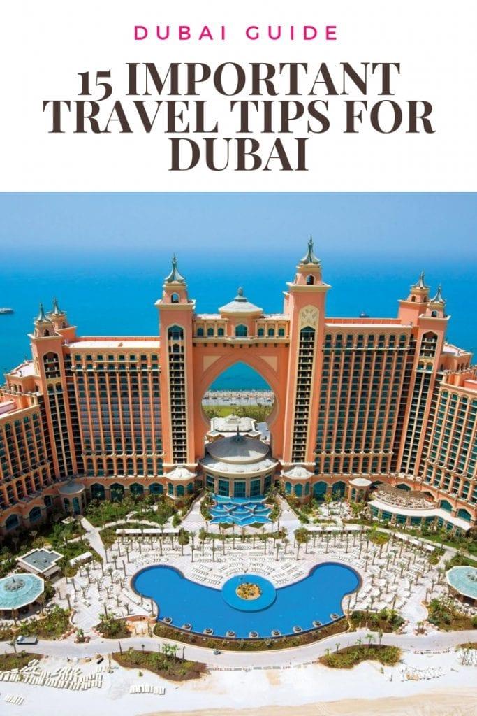 15 IMPORTANT TRAVEL TIPS FOR DUBAI