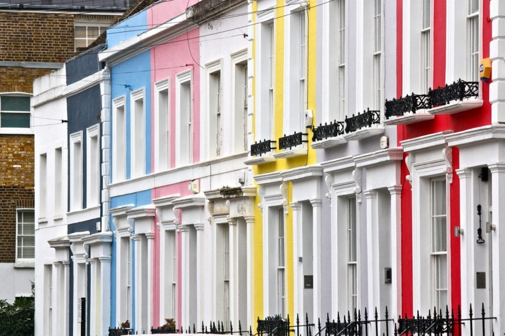 Colorful Houses of Notting hill instagram london top places