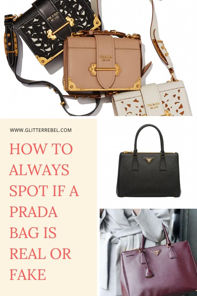 HOW TO ALWAYS SPOT IF A PRADA BAG IS REAL OR FAKE
