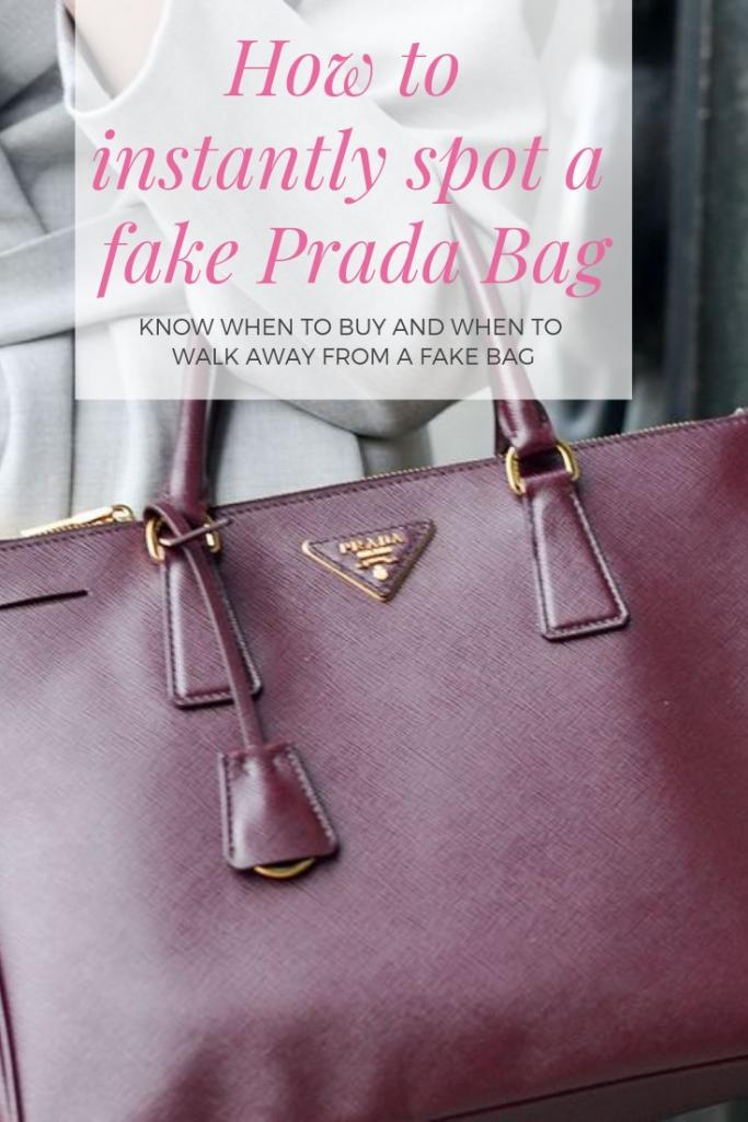 How to instantly spot a fake Prada Bag