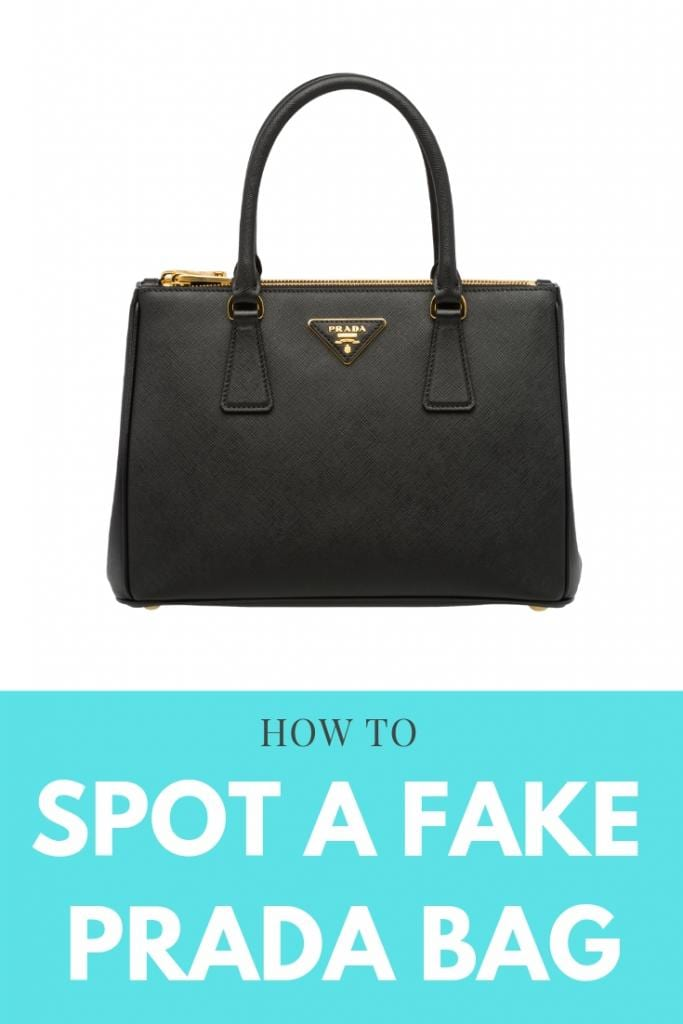 How to spot a fake prada bag