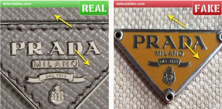 prada fakereal logo plate how to