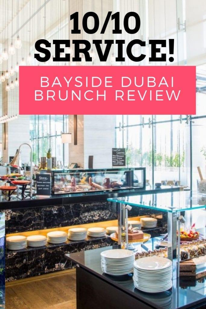 great service bayside brunch dubai