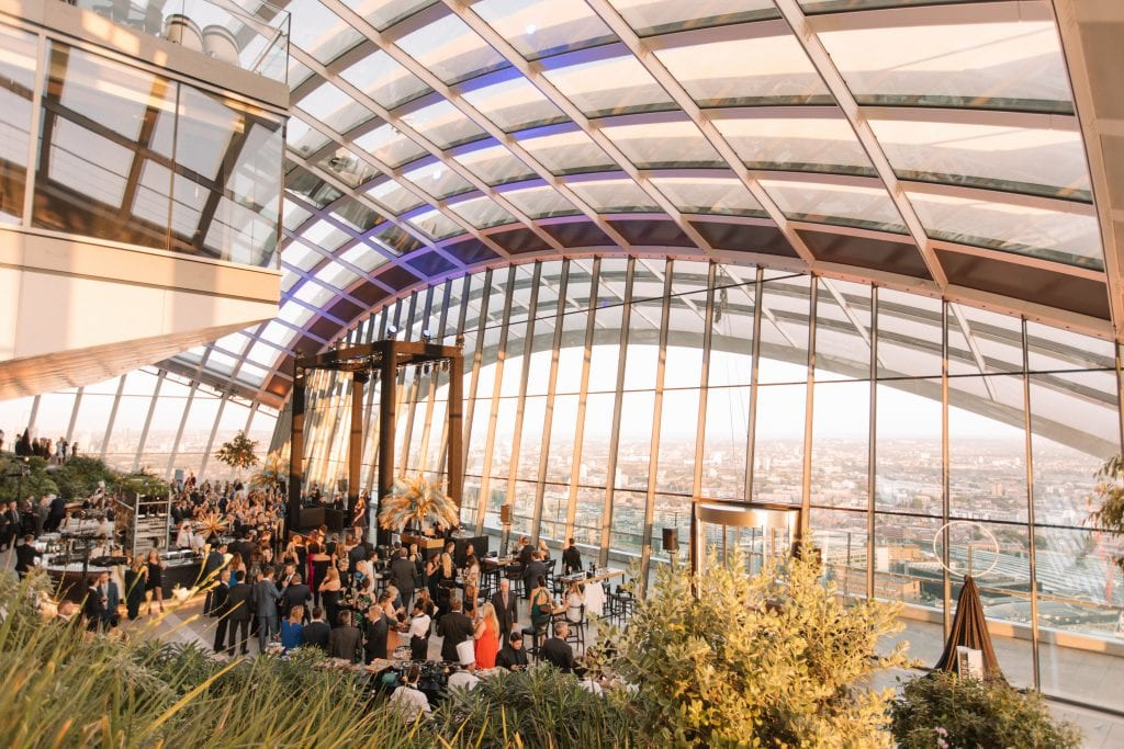 2B UK at The Sky Garden. Holly Clark Photography. Rhubarb. Event Concept.