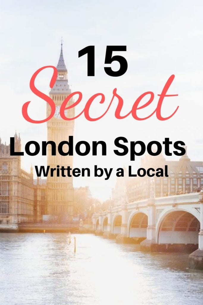 15 secret London spots written by a local
