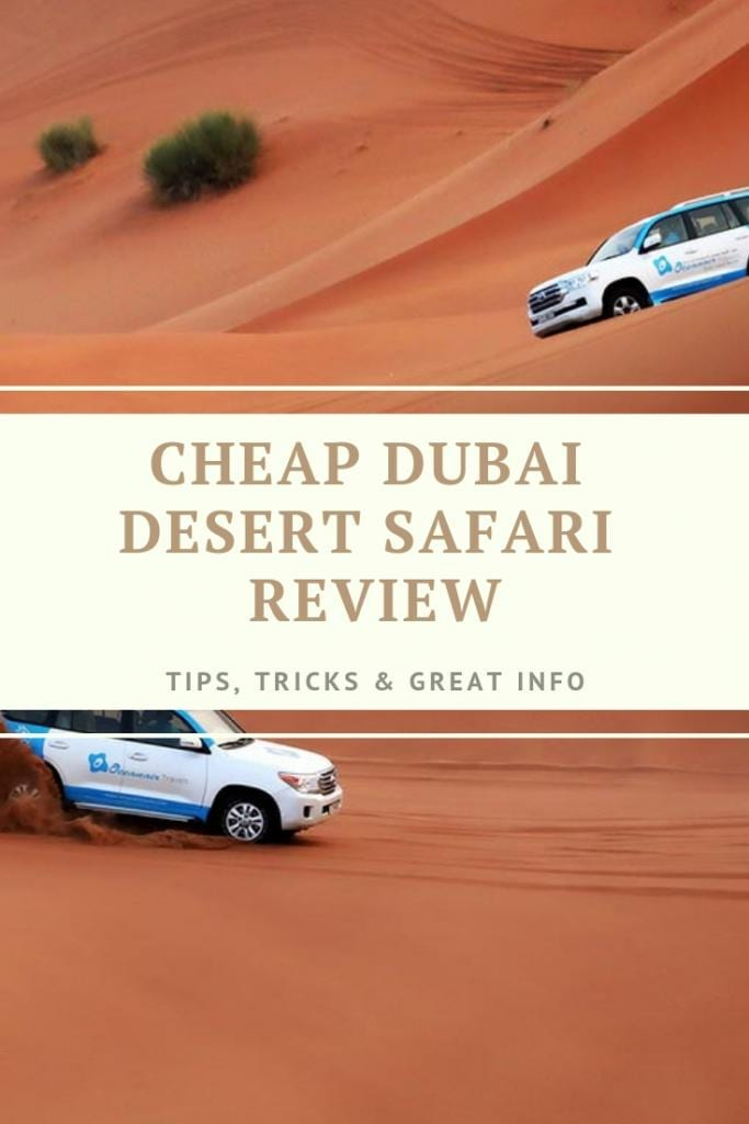 CHEAP DUBAI DESERT SAFARI REVIEW