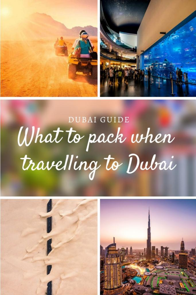 What to pack when travelling to Dubai