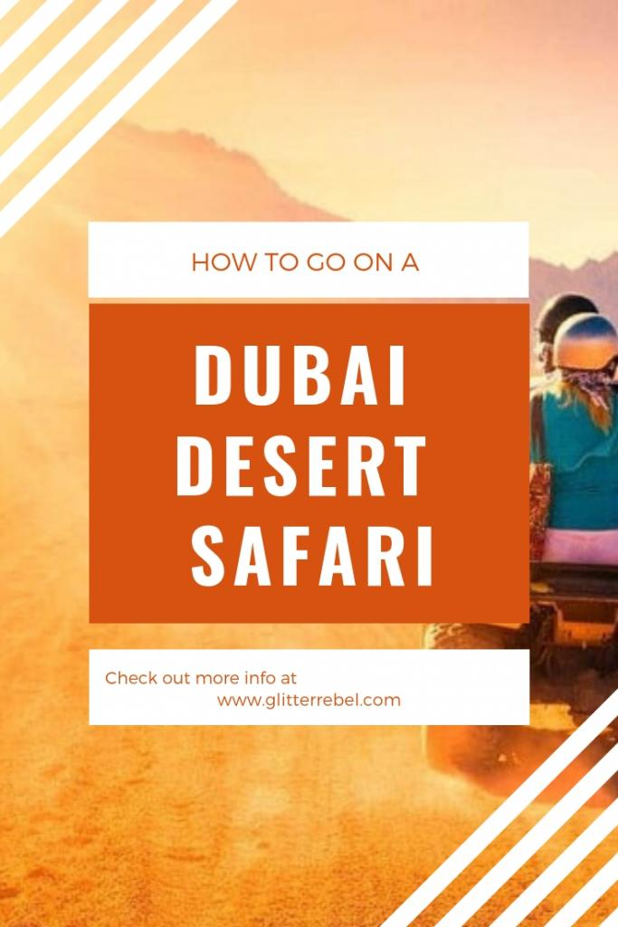 how to go on a dubai desert safari