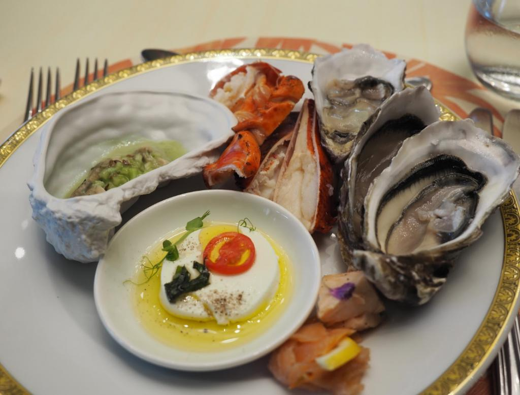 palazzo versace giardano brunch review seafood
