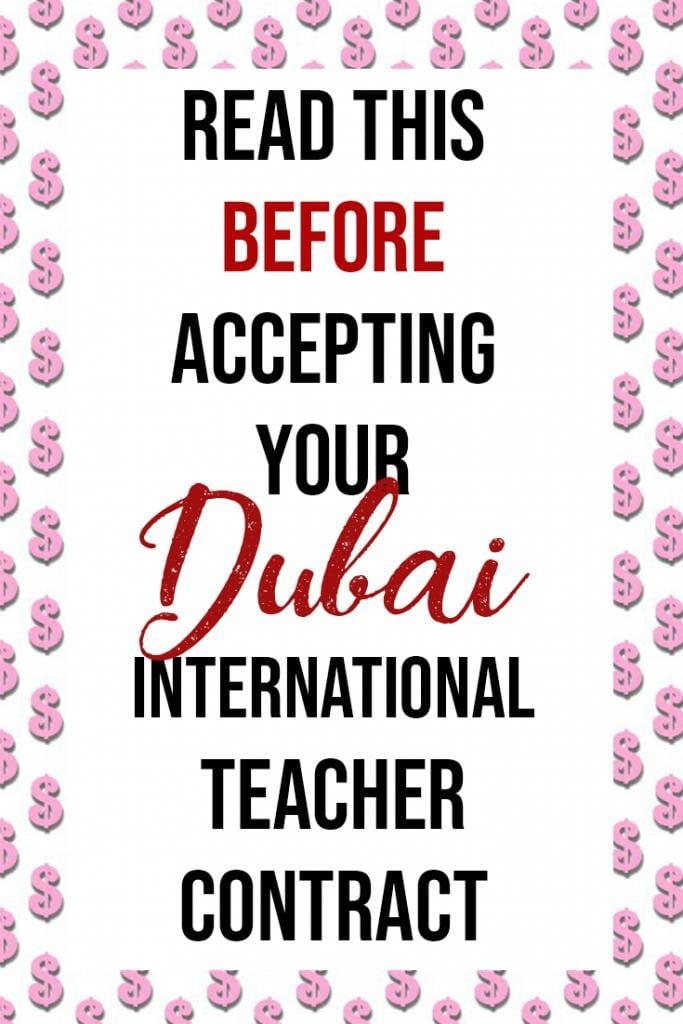 read this before accepting your dubai international teaching contract