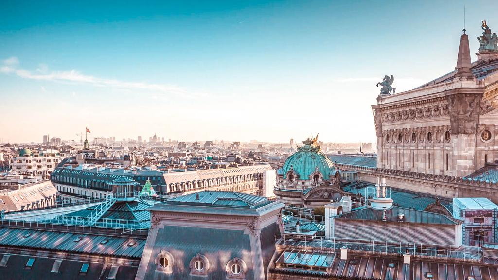 Admire the view from Galeries Lafayette rooftop terrace