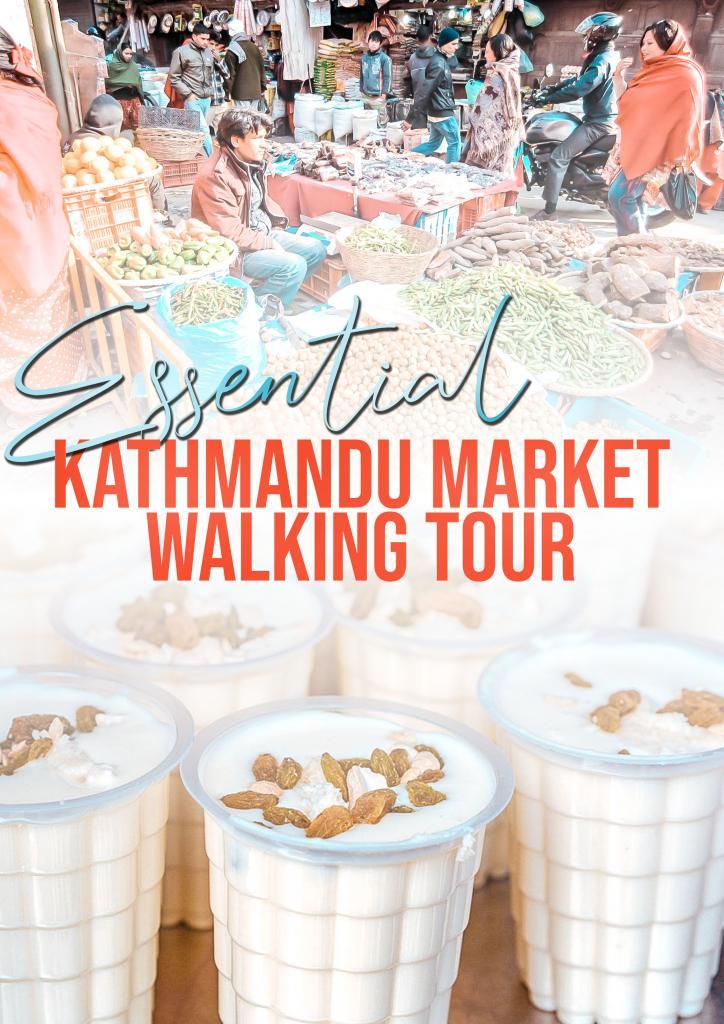 kathmandu market walking tour