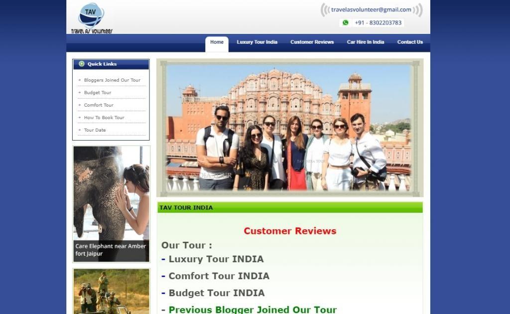 TAV India tour scam bloggers website