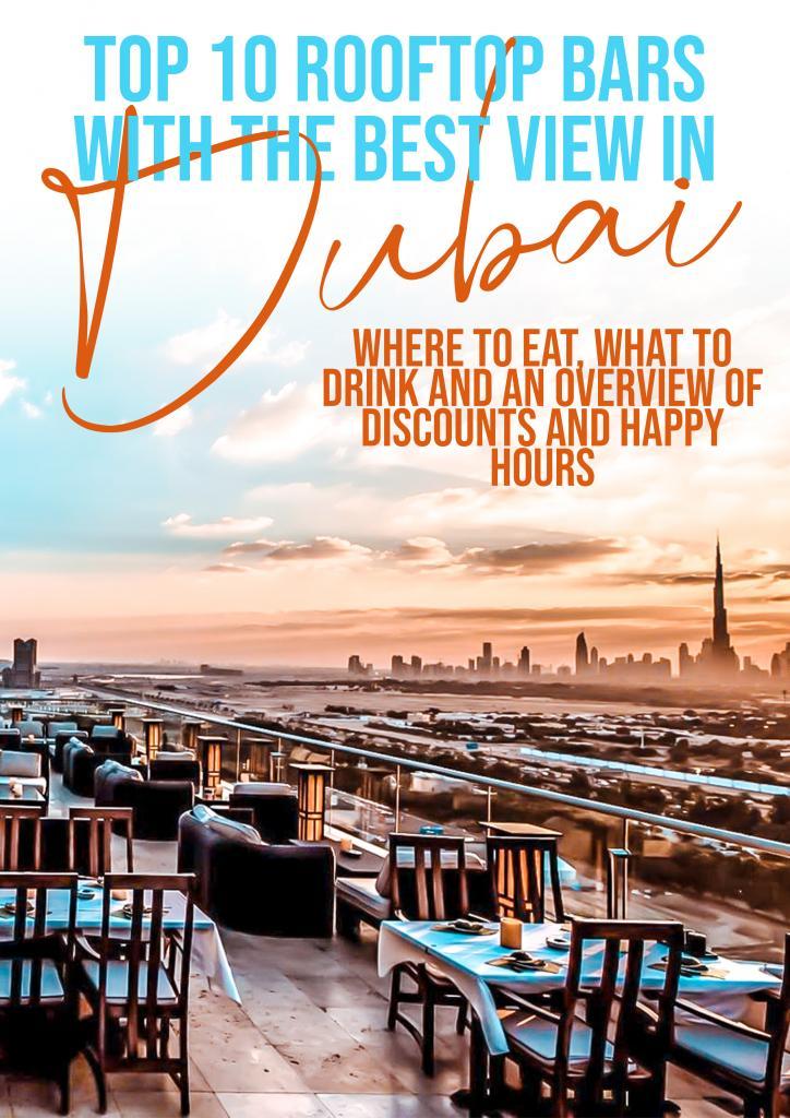 rooftop bars dubai best discounts happy hour