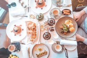 dubai burj kahlifa food breakfast