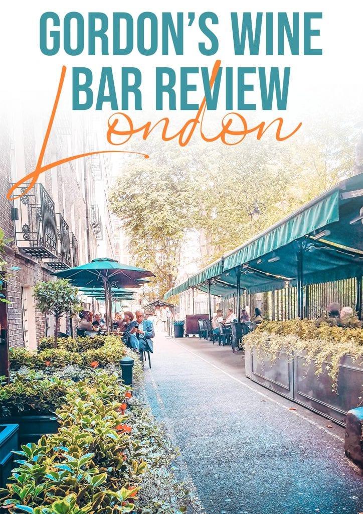 gordons winebar review london