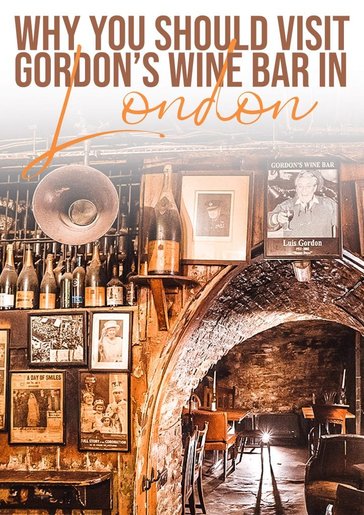 why you should visit gordons wine bar in london