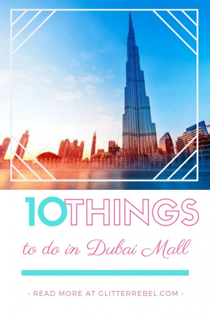 10 things to do in dubai mall