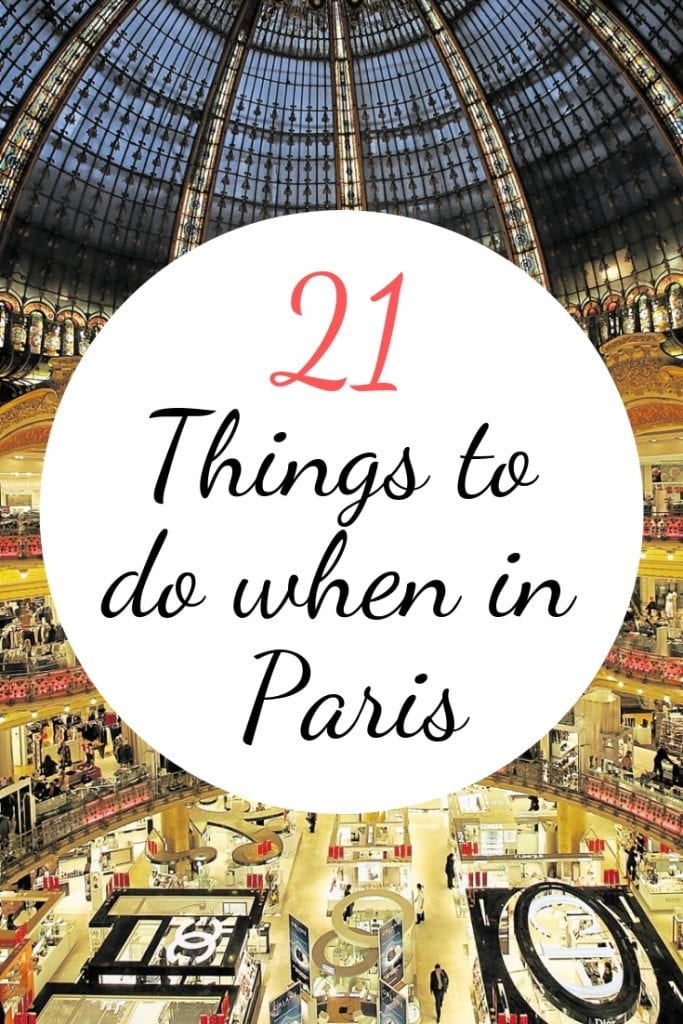 21 things to do when in Paris