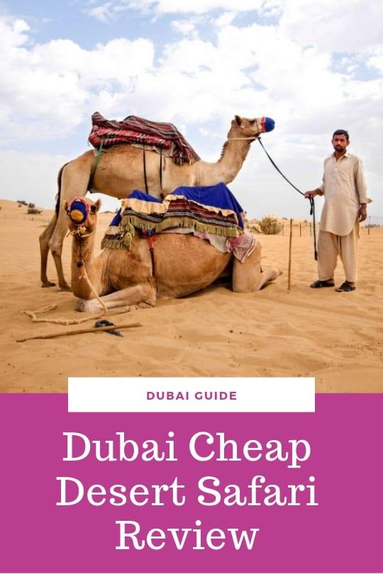 Dubai cheap desert safari review
