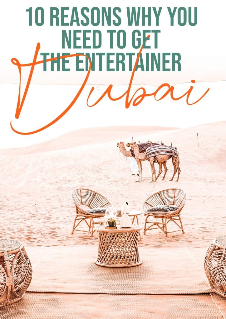 10 reasons why you need to get the entertainer dubai