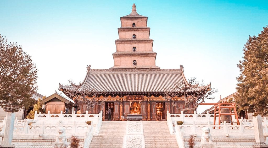 what to do in xian china giant wild goose pagoda