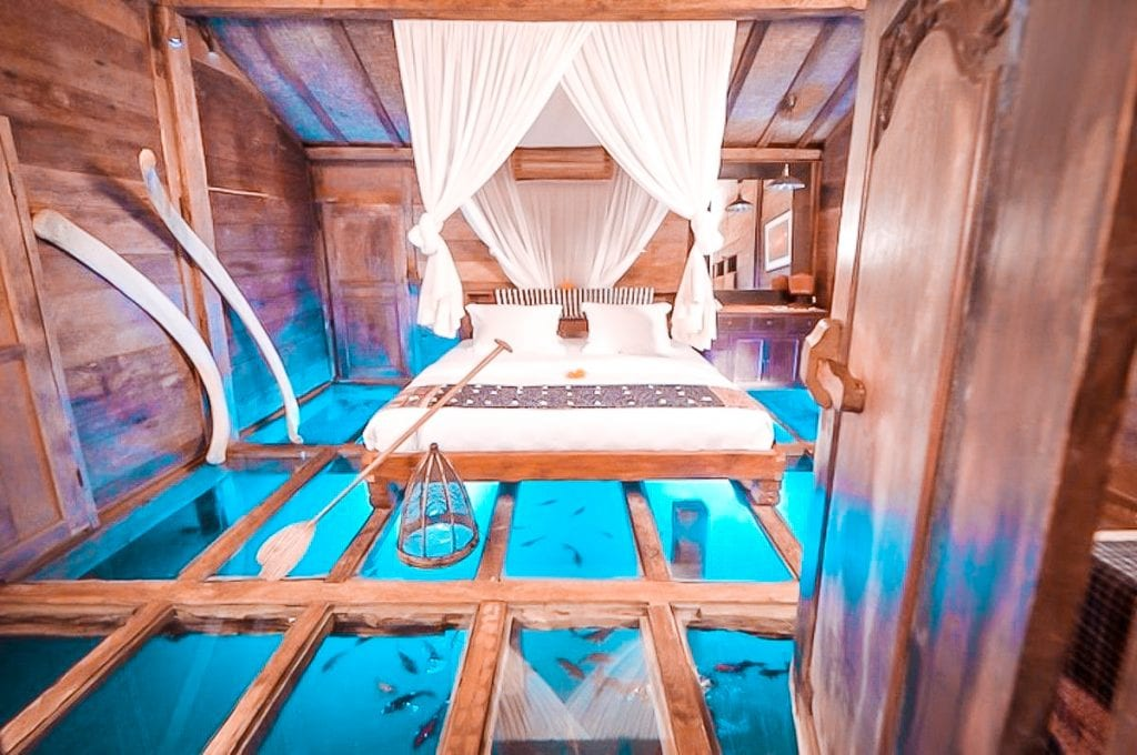 top underwater hotel rooms Bambu Indah Hotel in Bali