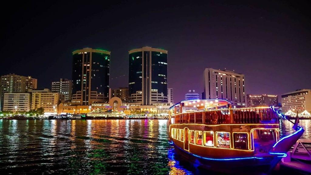 best boat tours dubai dhow cruise food bar