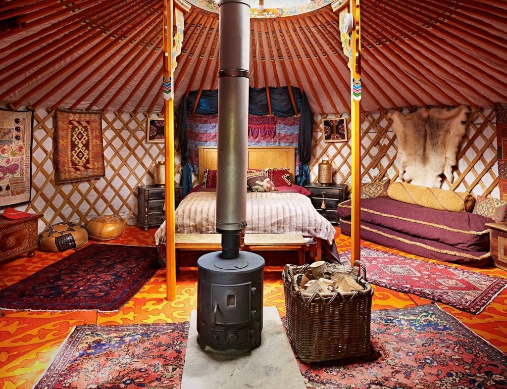 new forest glamping spots Sopley Lake Yurt Camp