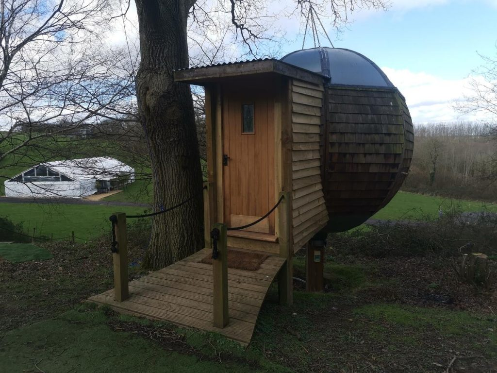 new forest glamping spots floating sphere