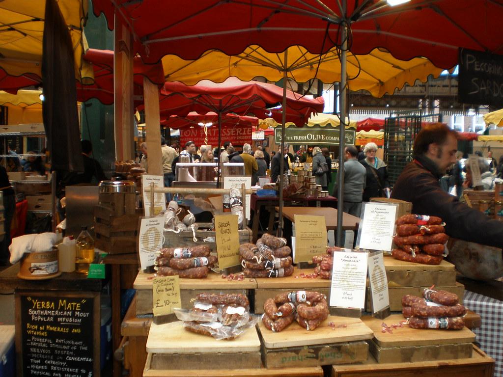Christmas in London borough market
