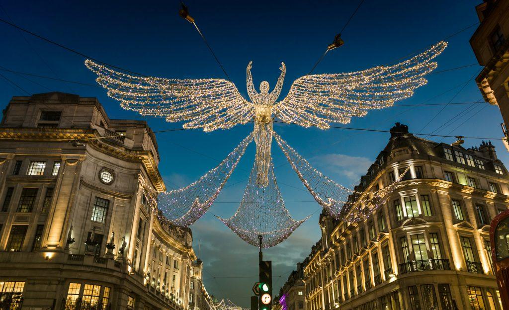 Christmas in London christmas lights