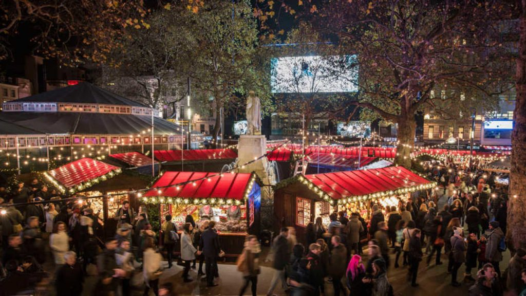 Christmas in London christmas market