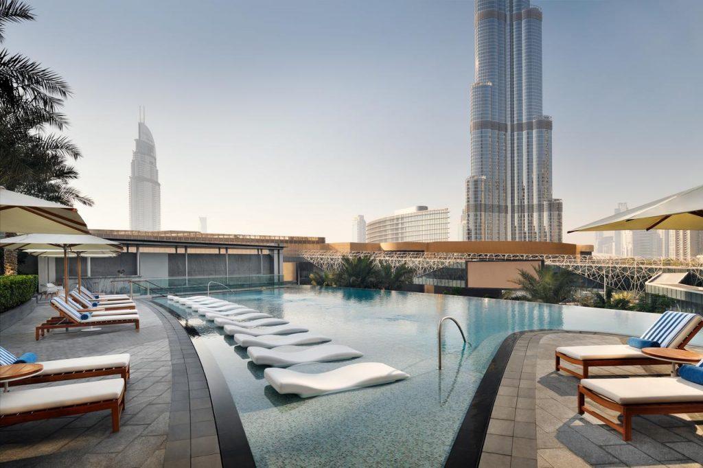 Hotel view Burj Khalifa Address Boulevard