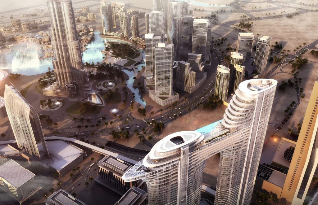 Hotel view Burj Khalifa Address Sky View