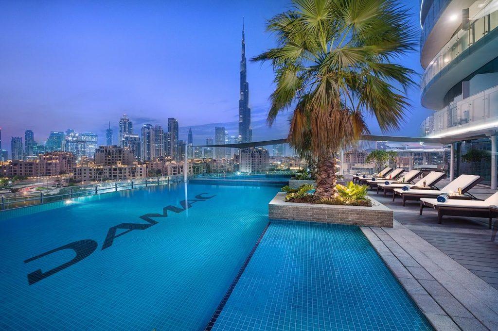 Hotel view Burj Khalifa Damac Maison Distinction