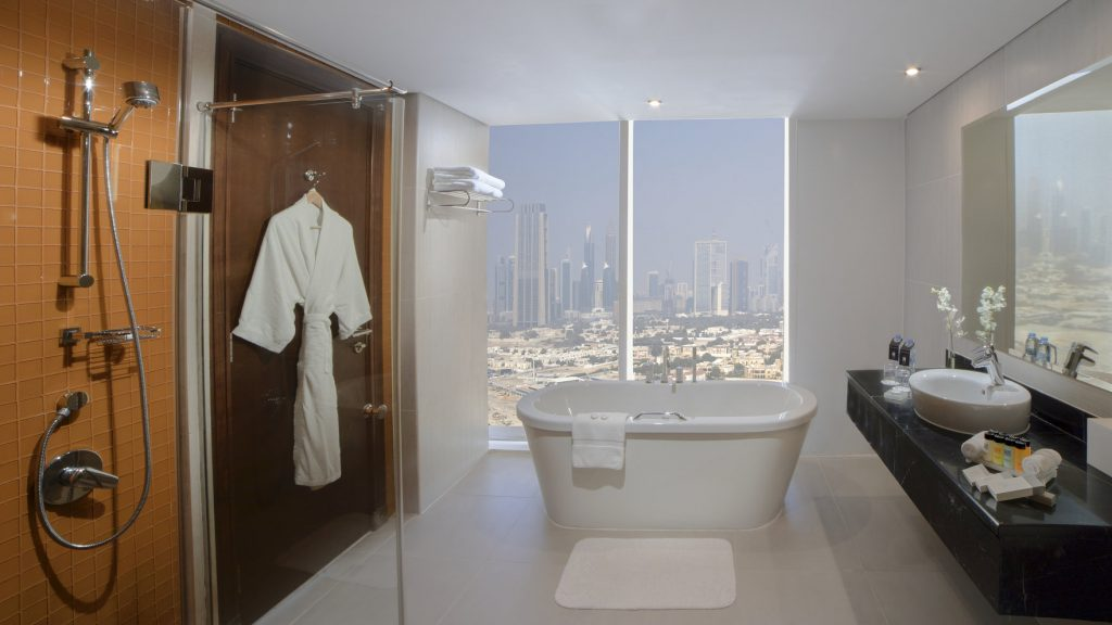 Hotel view Burj Khalifa Millennium Central Downtown