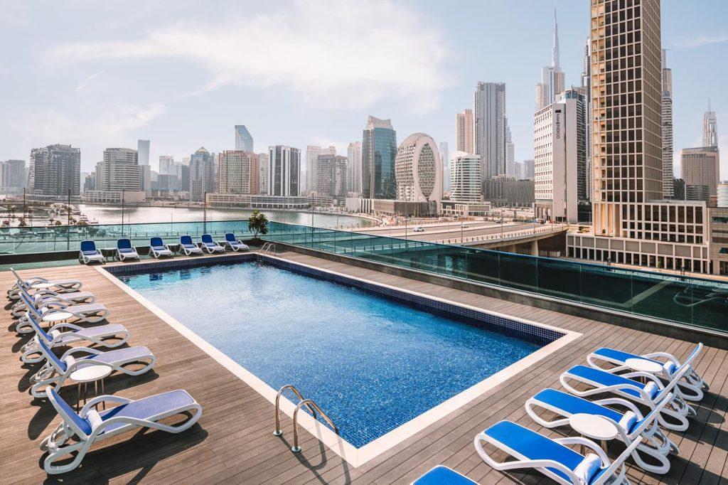 Hotel view Burj Khalifa Radisson Blu Hotel, Dubai Canal View