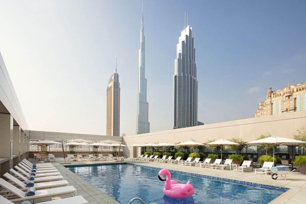 Hotel view Burj Khalifa rove downtown