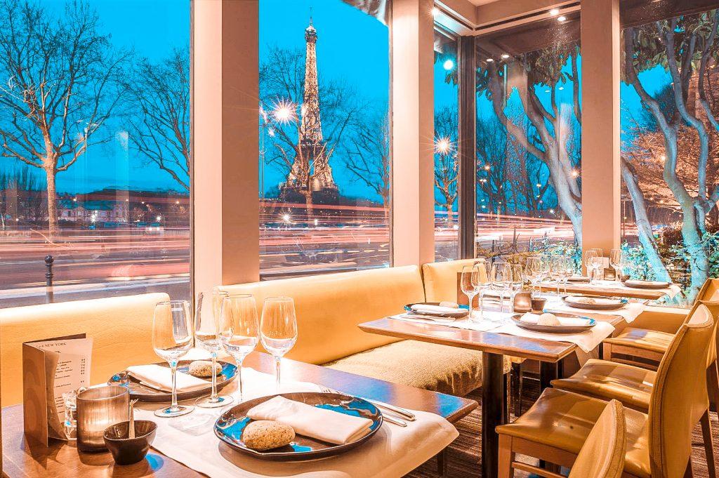 best restaurants effel tower view Le New York