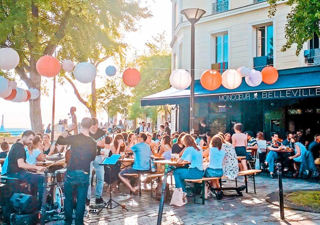 best restaurants effel tower view Moncoeur Belleville